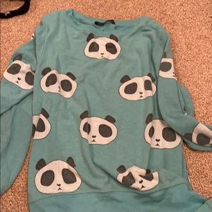 Wild fox panda sweat shirt